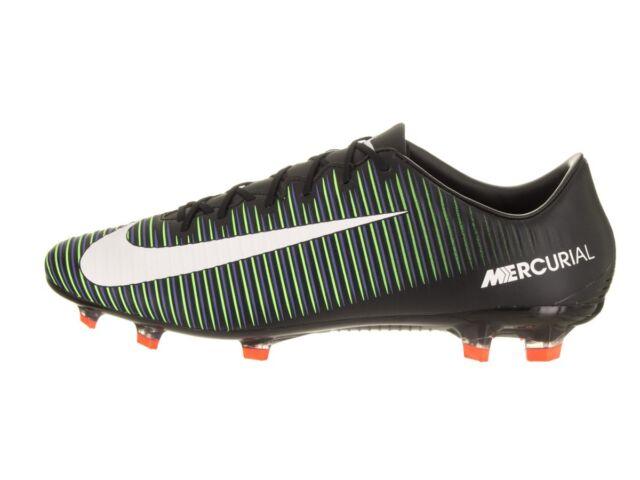 bcd0962386c Nike Mercurial Veloce III FG Men's Soccer Cleats - Black/Green (847756-013)