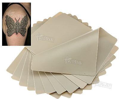 "10x Tattoo Practice Double Side Blank Plain Fake Skin Sheet 20cmx15cm 8""x6"" UK"