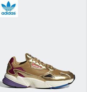 New Adidas Falcon W Metallic Gold Shoes