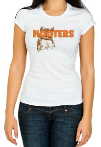 Hooters Owl Boobs America USA Waitress Bird 3//4 Short sleeve Woman T Shirt K101