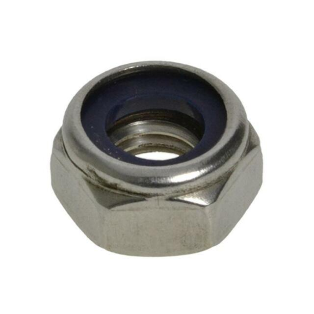 G304 Stainless Steel M4 (4mm) Metric Coarse Hex Nyloc Insert Nut