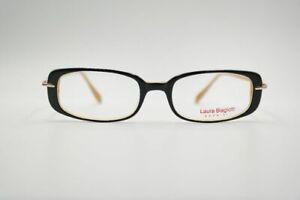 Laura-Biagiotti-LB-8178-381-50-18-135-Schwarz-Gelb-oval-Brille-eyeglasses-Neu