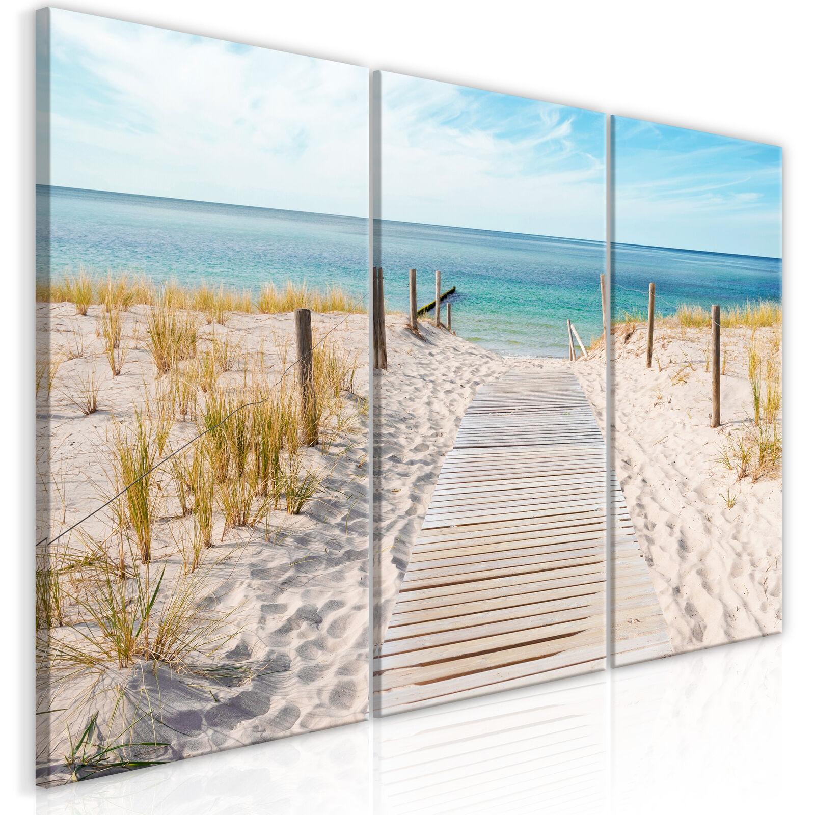 Wandbilder xxl Meer Landschaft Strand Bilder auf Vlies Leinwand c-A-0107-b-e