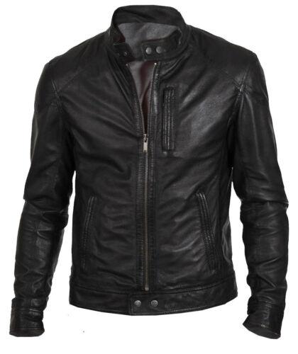 Men's Black Jacket Hunt Leather Biker rBxS6qr