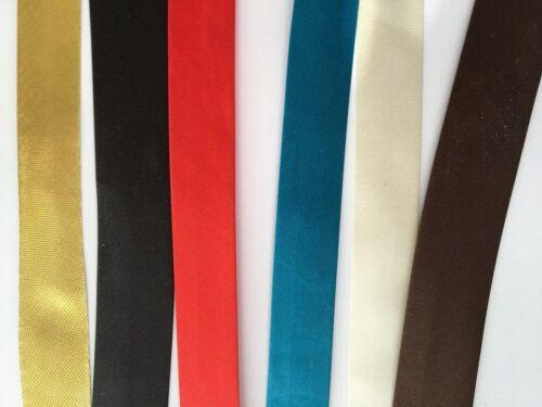 Bias Binding Tape 20 mm Width Polyester Satin 1 5 10 metres Sewing Craft