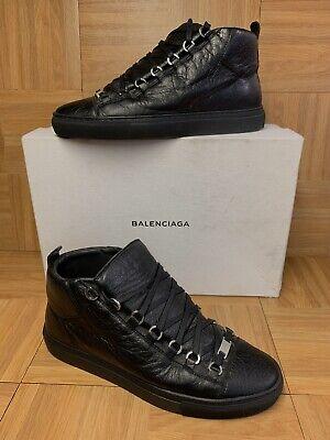 RARE🔥 Balenciaga Arena Black Leather