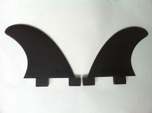 Copieux Surfboard Longboard Side Bites Fins. Gl Twin Fin Fcs 2 Fins. Black. Rear Quads Marchandises De Haute Qualité