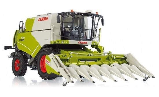 077818 Wiking Claas  Tucano 570 Combine Harvester with Maize intent Conspeed 8-75 1 32  grande vente