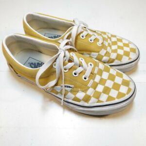 SHOES Sz Womens 6.5 yellow white Vans