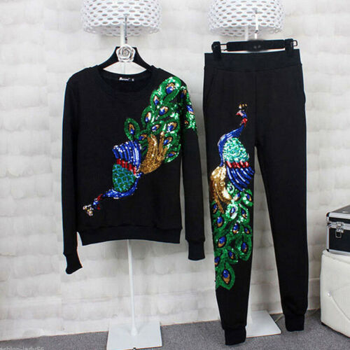 Peacock Pattern Embroidery Patches Sequin Motifs Iron On Patch Clothing Sequins