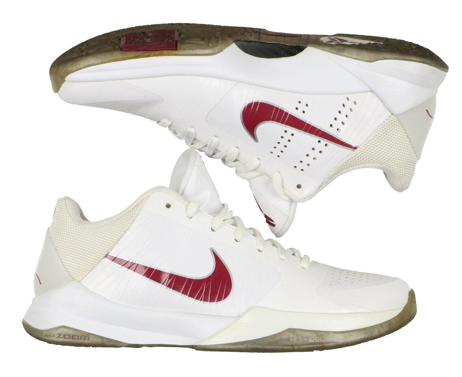 Nike Zoom Kobe V Basket Scarpe Misura 7 Inferiore Merion Edition Bianco Burgundy