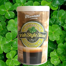 BEER KIT BLACK DEATH IRISH STOUT MUNTONS HOPPED MALT EXTRACT BREWING INGREDIENTS