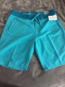 1307b172f7 New Mens sz 38 Old Navy California Swim Trunks Board Shorts At Knee ...