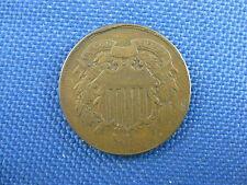 1864 LG MOTTO U.S. 2 TWO CENT COPPER COIN