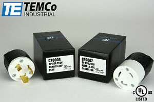 TEMCO-NEMA-L6-30P-Pair-Plug-30A-250V-Locking-UL-Listed-for-Generator-RV-Camper