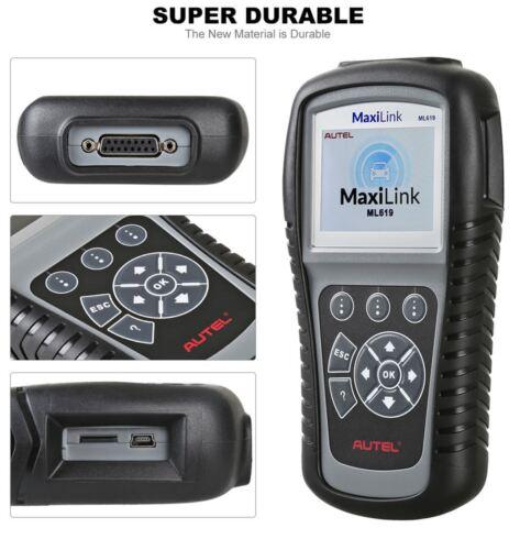 AUTEL ML619 OBD2 SRS AIRBAG Diagnostic Car Scanner Fault Code Reader Fits FORD