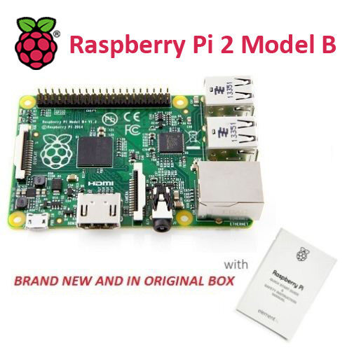 RASPBERRY PI 2 - Model B. 1GB RAM, Quad Core CPU