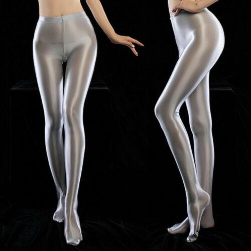 Ladies Super Shiny Satin Gloss Pantyhose Elastic Stockings Tights Dance Clubwear