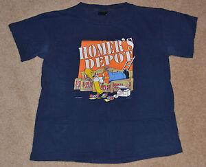 dd590356 The Simpsons HOMER'S DEPOT Navy Tee Shirt (Used) Medium M (FAST ...