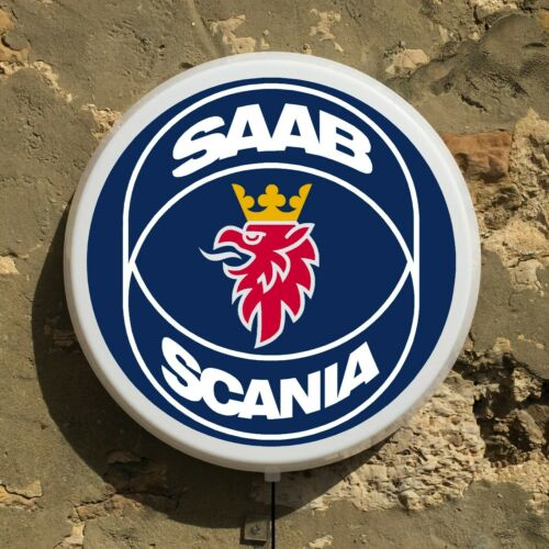 SCANIA TRUCK LOGO LED LIGHT BOX ADVERTISING SIGN GARAGE PETROL AUTOMOBILIA OIL
