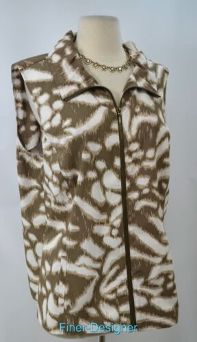 Zip Top Chicos senza L Xl a maniche Giacca Gilet Nuovo vento 3 Sz Up Weekends Jungle qE1XC1wg