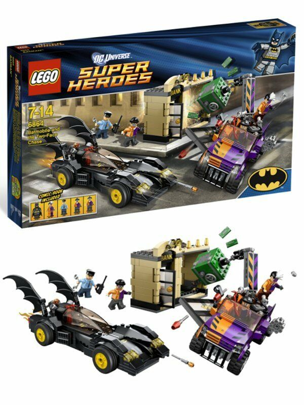 LEGO SUPER HEROES 6864 Batman Batmobil TWO FACE persecuzione Street Chase