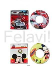 Schwimmring Disney Pixar Cars / Mickey Mouse ca. 51 cm Kinder Badespass NEU!