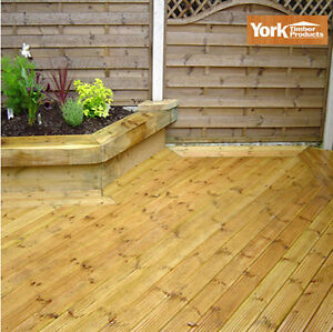 125 x 38 bison tanalised premuim garden decking boards hd for Tanalised decking boards