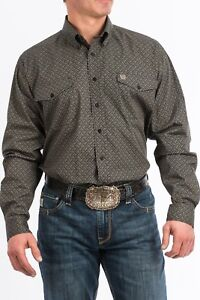 Cinch Men/'s Black /& White Paisley Button Up Western Shirt MTW1104722