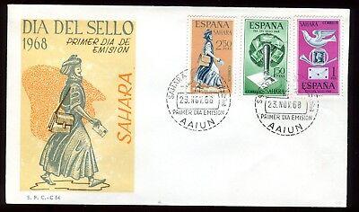 Eerzuchtig Sahara Espagnol - Enveloppe Fdc 1968 - O 115 Straatprijs
