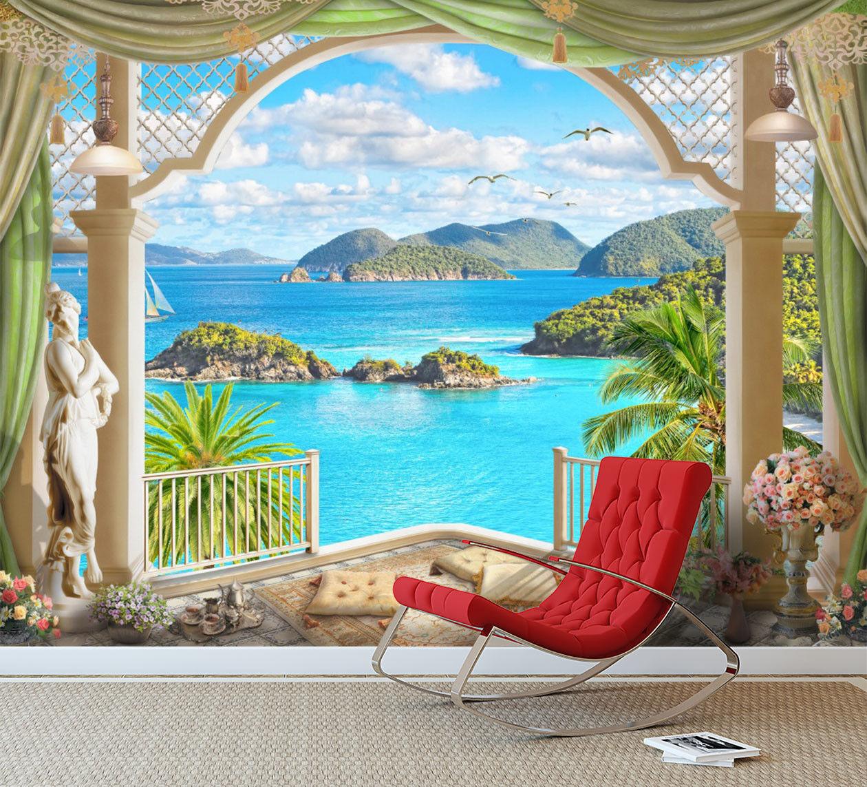 3D Charming Sea View 7 Wall Paper Murals Wall Print Wall Wallpaper Mural AU Kyra