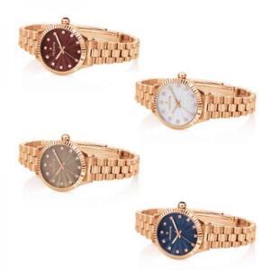 Orologio-Donna-HOOPS-LUXURY-DIAMONDS-Rose-Bracciale-Acciaio-Swarovski-Colorato