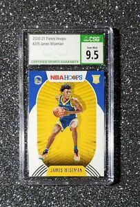 2020-21 Panini NBA Hoops Rookie RC JAMES WISEMAN Graded CSG 9.5 Gem Mint No. 205