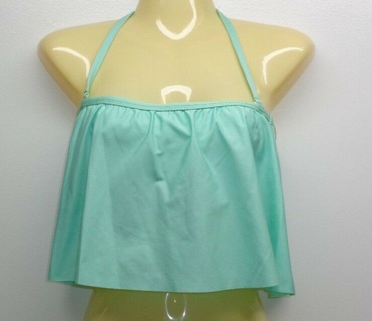 Gianni Bini Size Medium REM SC FLUTTER BRA Seafoam Green New Womens Bikini Top