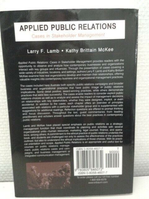 Applied public relations, emne: organisation og ledelse