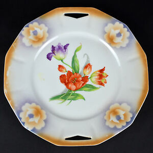 Image is loading Vintage-Tulip-Flower-Dinner-Plate-Pattern-Dish-Dinnerware- & Vintage Tulip Flower Dinner Plate Pattern Dish Dinnerware German ...