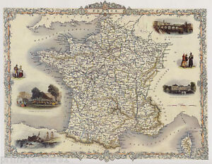 Map Of France 1800.Details About 1800 S Map France Toulouse Fontainebleau Repro Poster