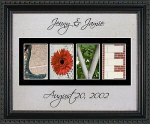 Personalized Art - Love Wedding Anniversary Bridal Shower Wall Art Gift LLOVE