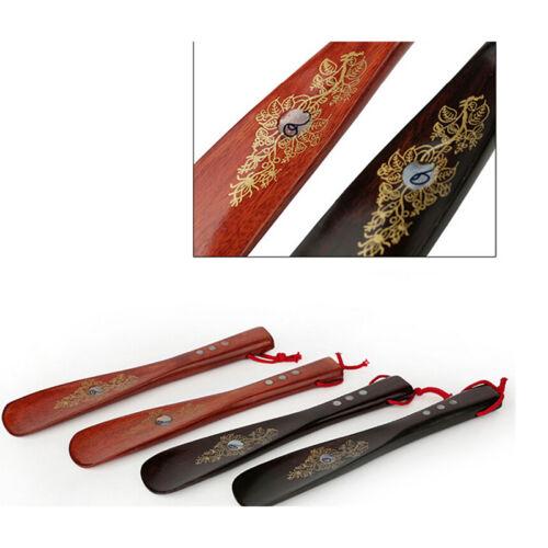 1pcs lange Schuh Horn Griff Schuhlöffel Holz langlebig und leichte SchuheGuideCV
