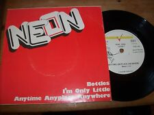 neon - bottles - i'm only little - anytime,anyplace,anywhere..1978 pic sleeve 45
