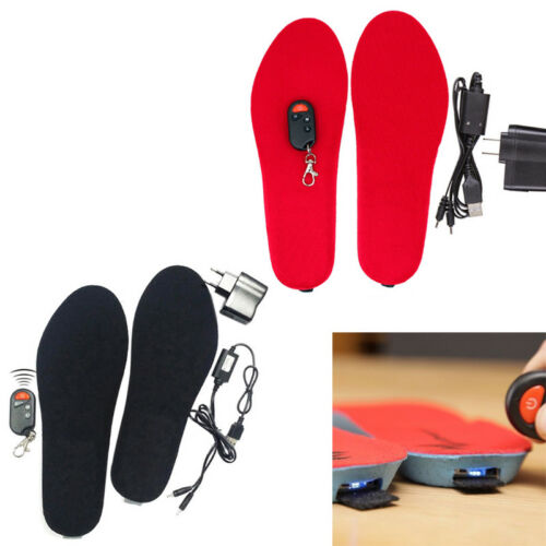 Pair Electric Heated Shoe Insoles Foot Warmer Heater Feet Battery Heated Gloves