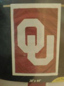 "UNIV OF OKLAHOMA HOUSE BANNER FLAG 28""X44"" OU Sooners"
