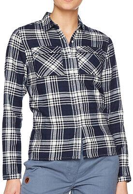 Inteligente Craghoppers Carolina A Maniche Lunghe Check Camicia Da Donna-blu Scuro-mostra Il Titolo Originale