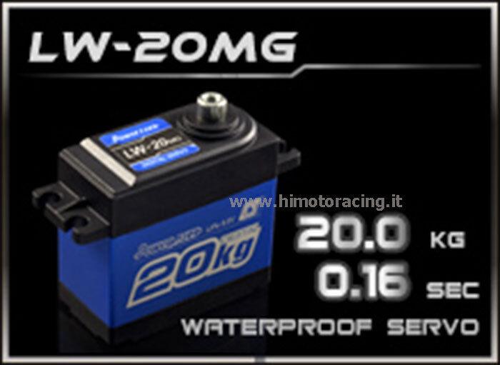 SERVO COMANDO DIGITALE 20 Kg LW-20MG WATERPROOF POWER HD INGRANAGGI TITANIO