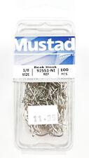 100 pk Mustad Octopus Circle Beak Fish Hooks Steelhead 92553-NI  Size 4 S176