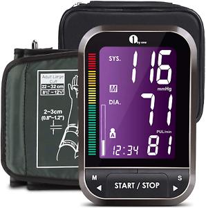 Blutdruckmessgerät Oberarm, Digitaler Blutdruckmesser leicht lesbarer LCD Screen