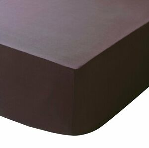 """Cream FITTED SHEET+ 2 FREE PILLOWCASE 7 FT NEW 10/"""" DEEP  EMPEROR"""