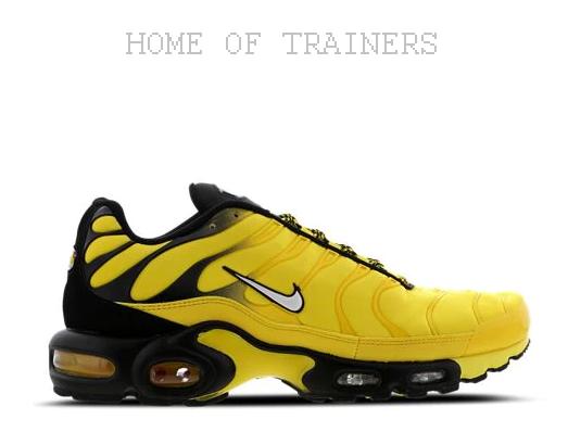 Nike Tuned 1 Negro Amarillo Frecuencia Zapatillas Hombre Todas las Tallas