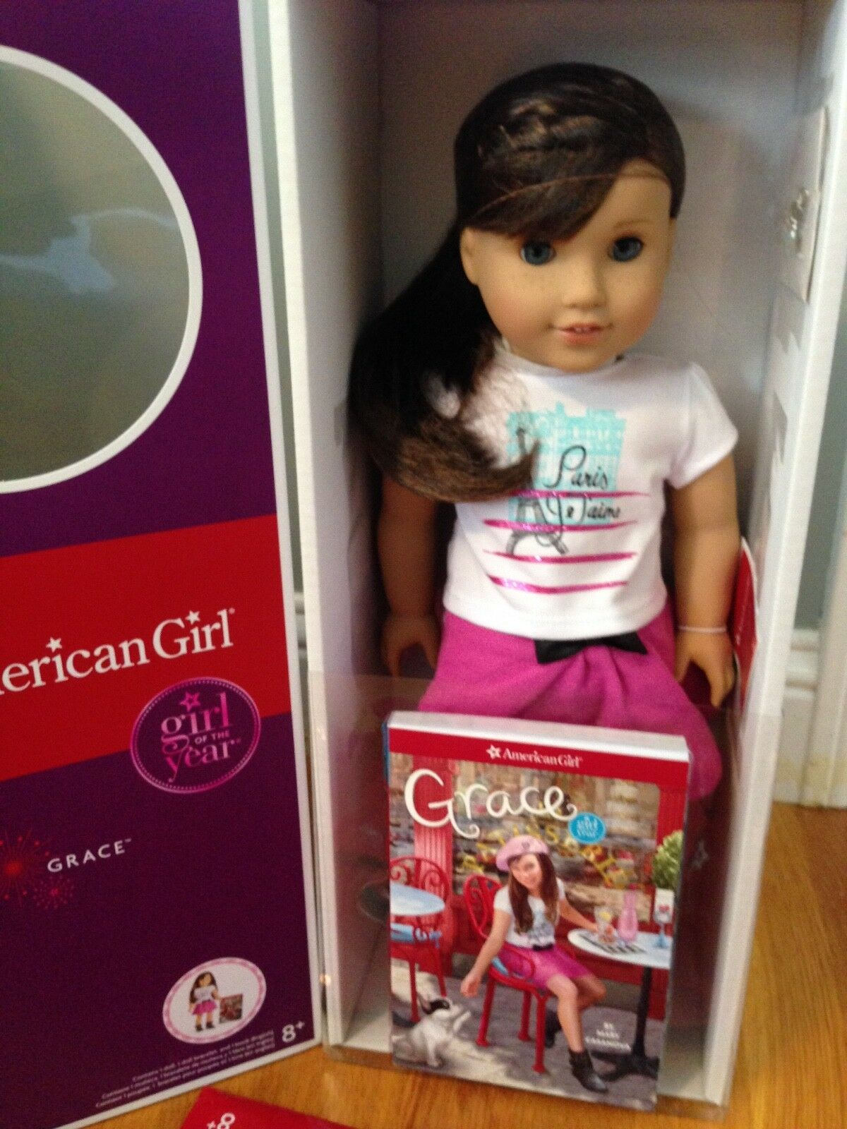 American Girl GRACE THOMAS DOLL OF THE YEAR 18  NEW Bracelet Book