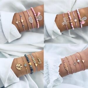 9919dbbd9f58 5Pcs Fashion Women Boho Heart Animal Horse Tassels Beads Bracelet ...